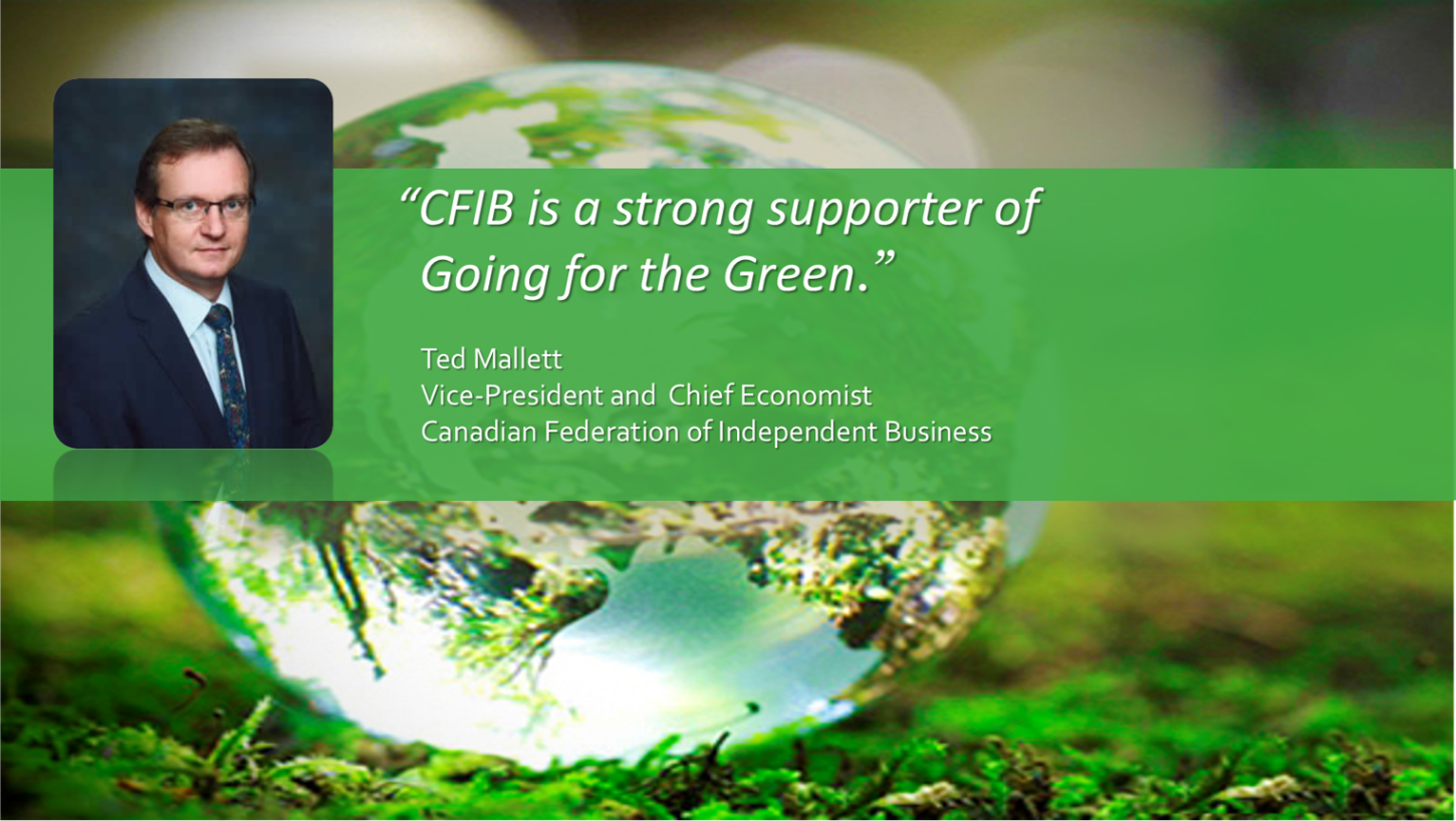 """CFIB is a strong supporter of Going for the Green."""
